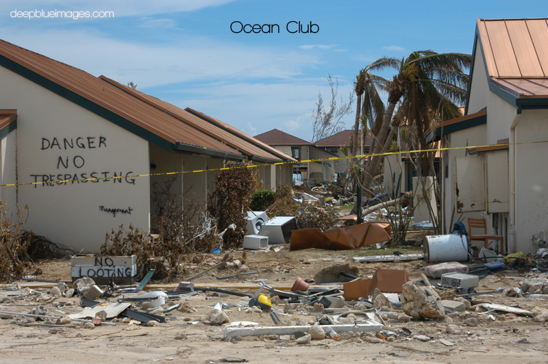 Ocean Club just days after the storm